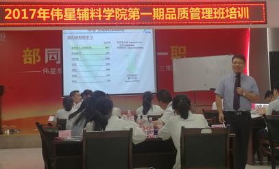 浙江伟星集团品质管理系列培训正式启动